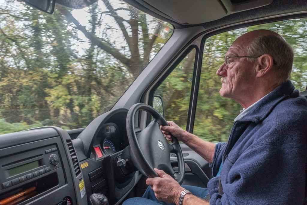 WRCC Back&4th WI lunch trip - John, one of our Warwickshire volunteer drivers