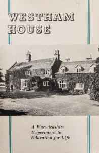 WRCC archives Westham House adult education 1946