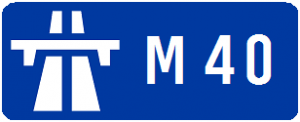 M40 Motorway sign