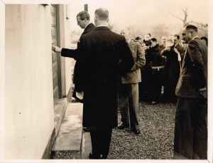 HRH THe Duke of Kent opens the newly built Fillongley Village Hall, 14 December 1938
