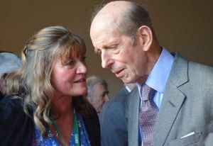 HRH The Duke of Kent with Jayne Moore of Fillongley Village Hall