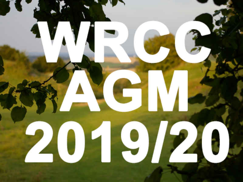 WRCC Annual General Meeting – 7.00pm on Thursday 12th November 2020