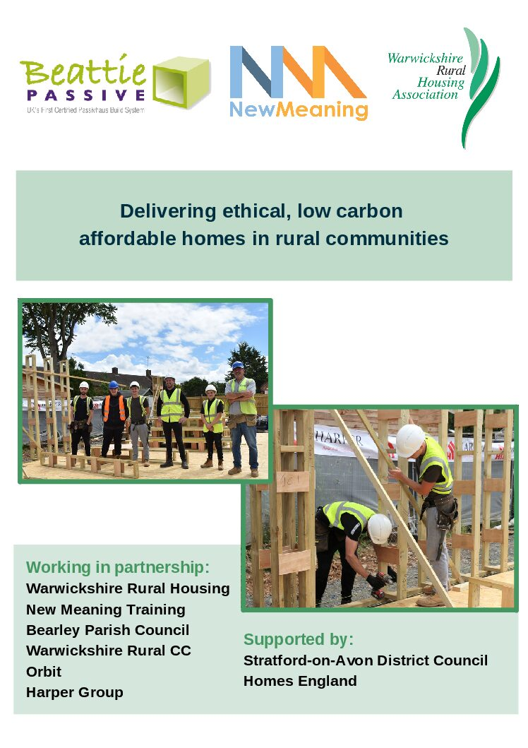 Bearley's low carbon affordable homes are underway